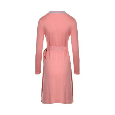 color trimming wrap dress multi